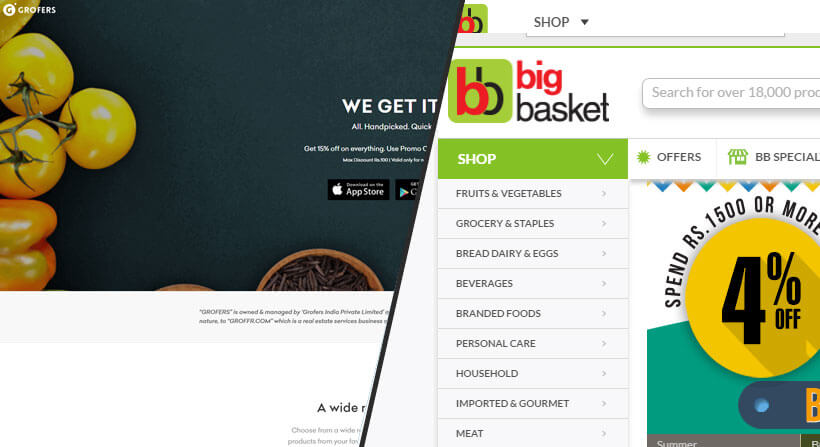 How grocery shopping apps like Grofers and Big Basket are
